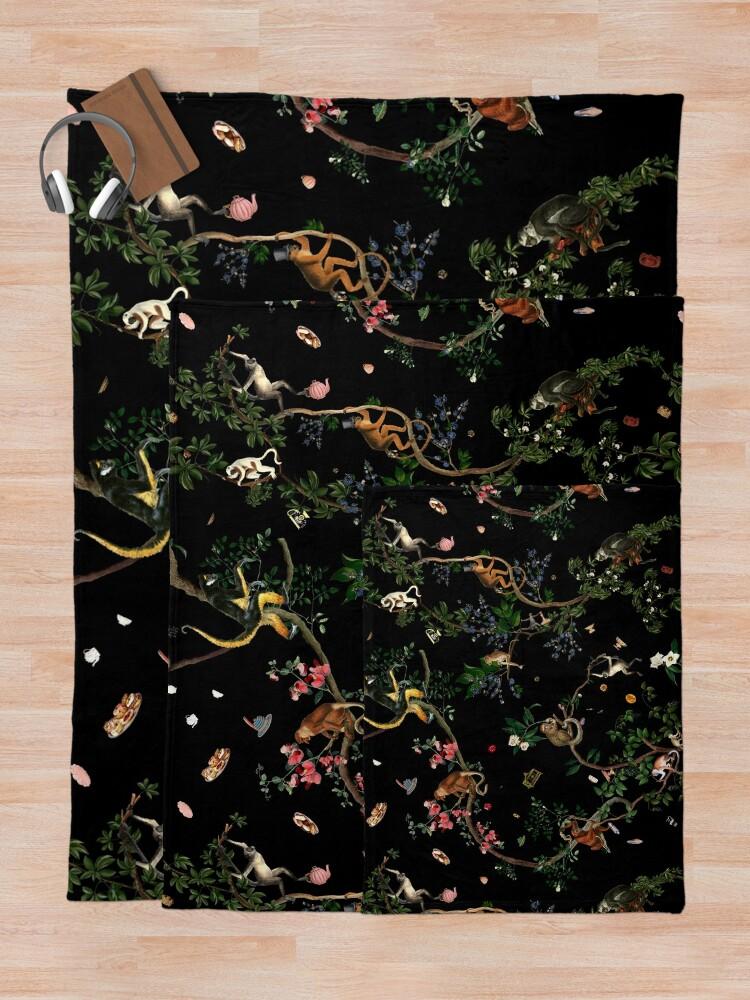 Alternate view of Monkey World Throw Blanket