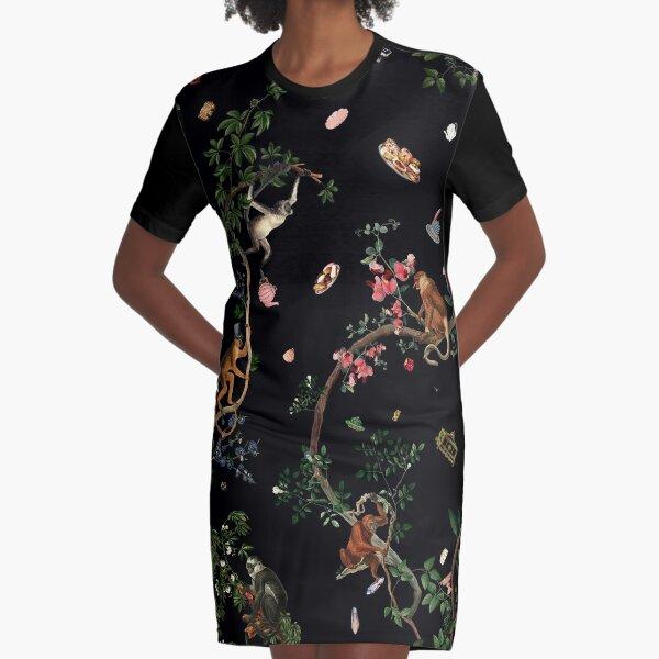 Monkey World Graphic T-Shirt Dress