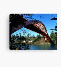 Rainbow Bridge La Conner Canvas Print