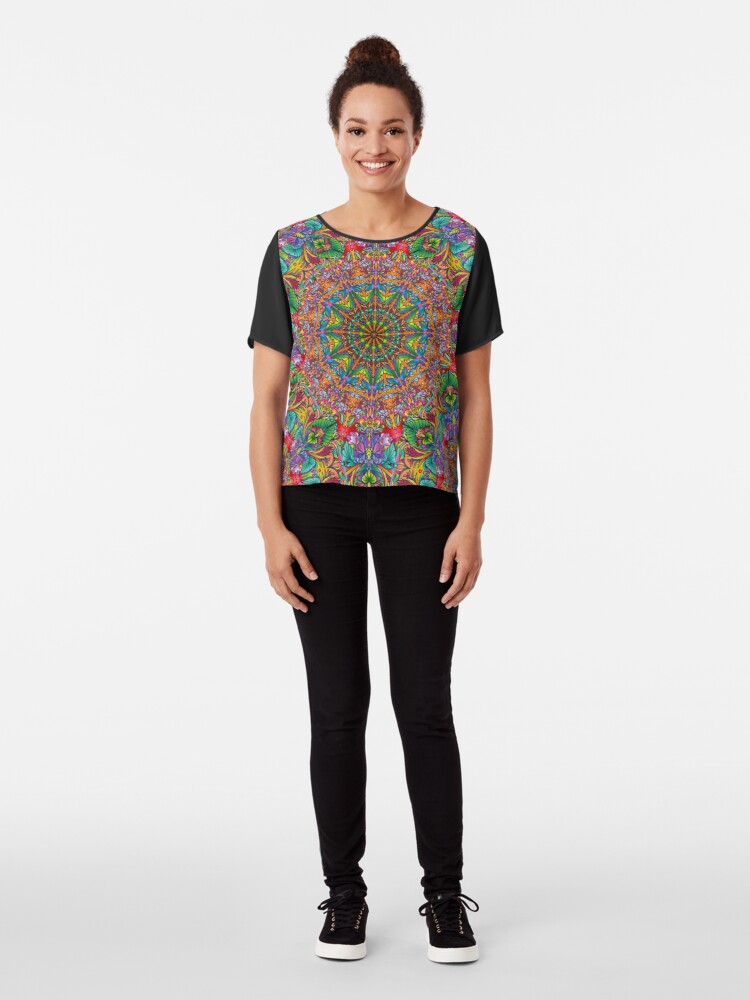 Alternate view of Tropical Mandala Chiffon Top