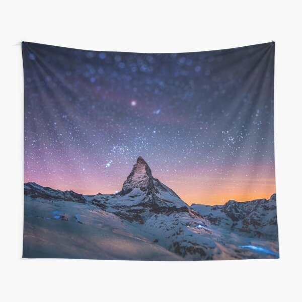 Mountain Reach the Galaxy Tapestry