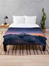 Mountain Reach the Galaxy Throw Blanket