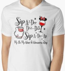 Sip-a-dee-doo-dah-sip-a-dee-ay-my-oh-my-what-a-wonderful-day Men's V-Neck T-Shirt