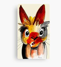 Funny Easter Bunny Canvas Print
