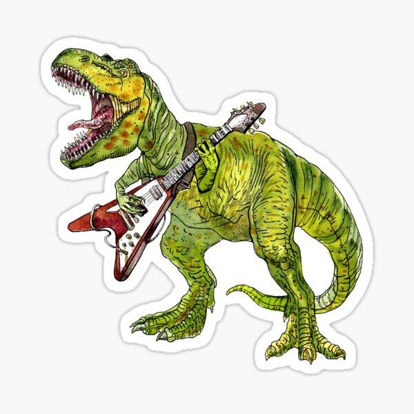 Heavy metal dinosaur Sticker