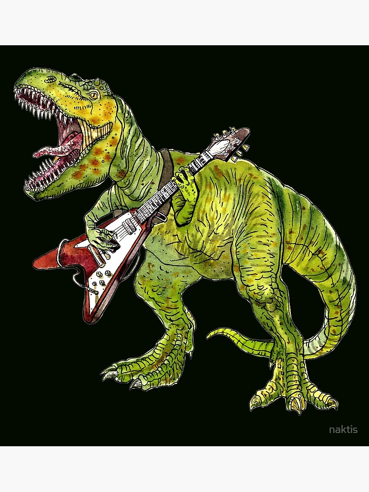 Heavy metal dinosaur by naktis
