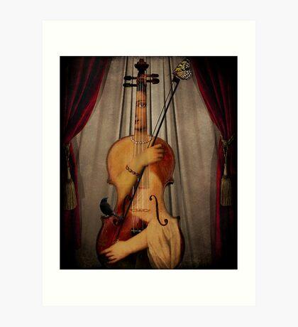 Der Musiker Kunstdruck