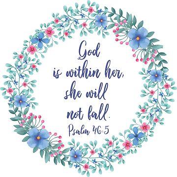 Psalm 46:5 by sarapaschal