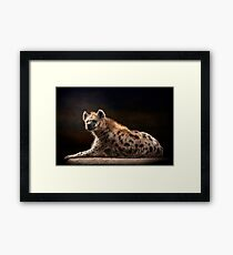 Happy Hyena Framed Print