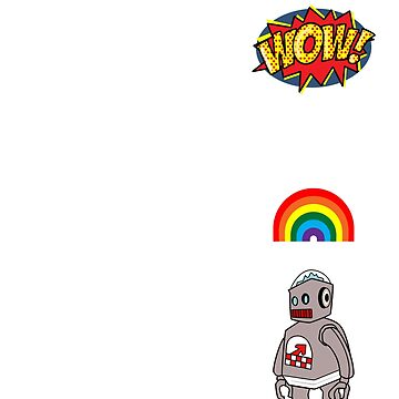 Wow, a rainbow robot! by mime666