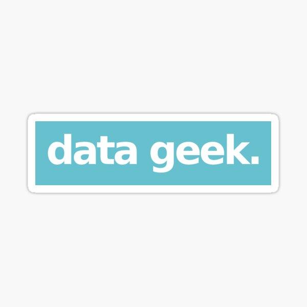 Data Geek - Blue Sticker