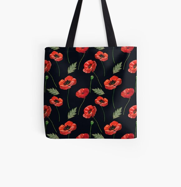 Beautiful poppies All Over Print Tote Bag