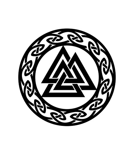 valknut odin warrior symbol vikings photographic prints by anne