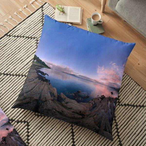 Dusk Shoreline near Moville, Donegal (Rectangular) Floor Pillow