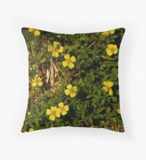 Tormentil in Shalwy Valley Throw Pillow