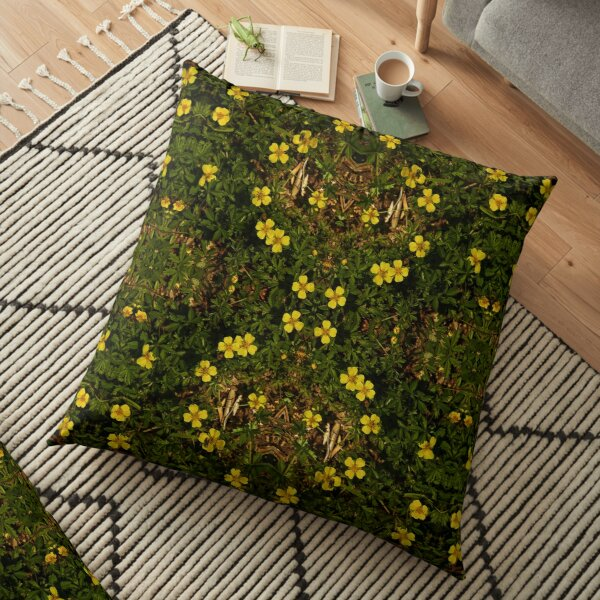 Tormentil in Shalwy Valley Floor Pillow