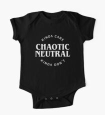 Chaotic Neutral Alignment Kinda Care Kinda Don't Funny Quotes One Piece - Short Sleeve