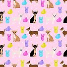 Chihuahua dog breed marshmallow peeps easter spring traditions cute dog breed gifts chihuahuas by PetFriendly