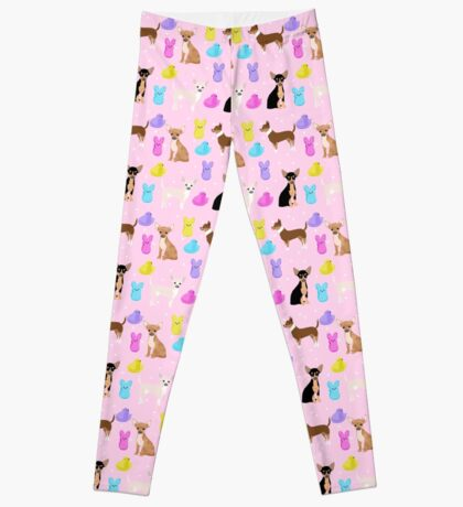 Chihuahua dog breed marshmallow peeps easter spring traditions cute dog breed gifts chihuahuas Leggings