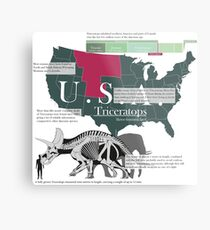 Triceratops Infographic Metal Print