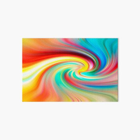 Rainbow Twirl Art Board Print