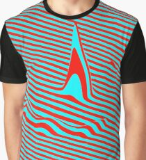 Optical illusion - Distortion effect, bug and error Graphic T-Shirt