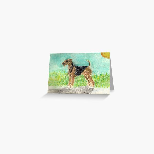 Airedale in pastel Greeting Card