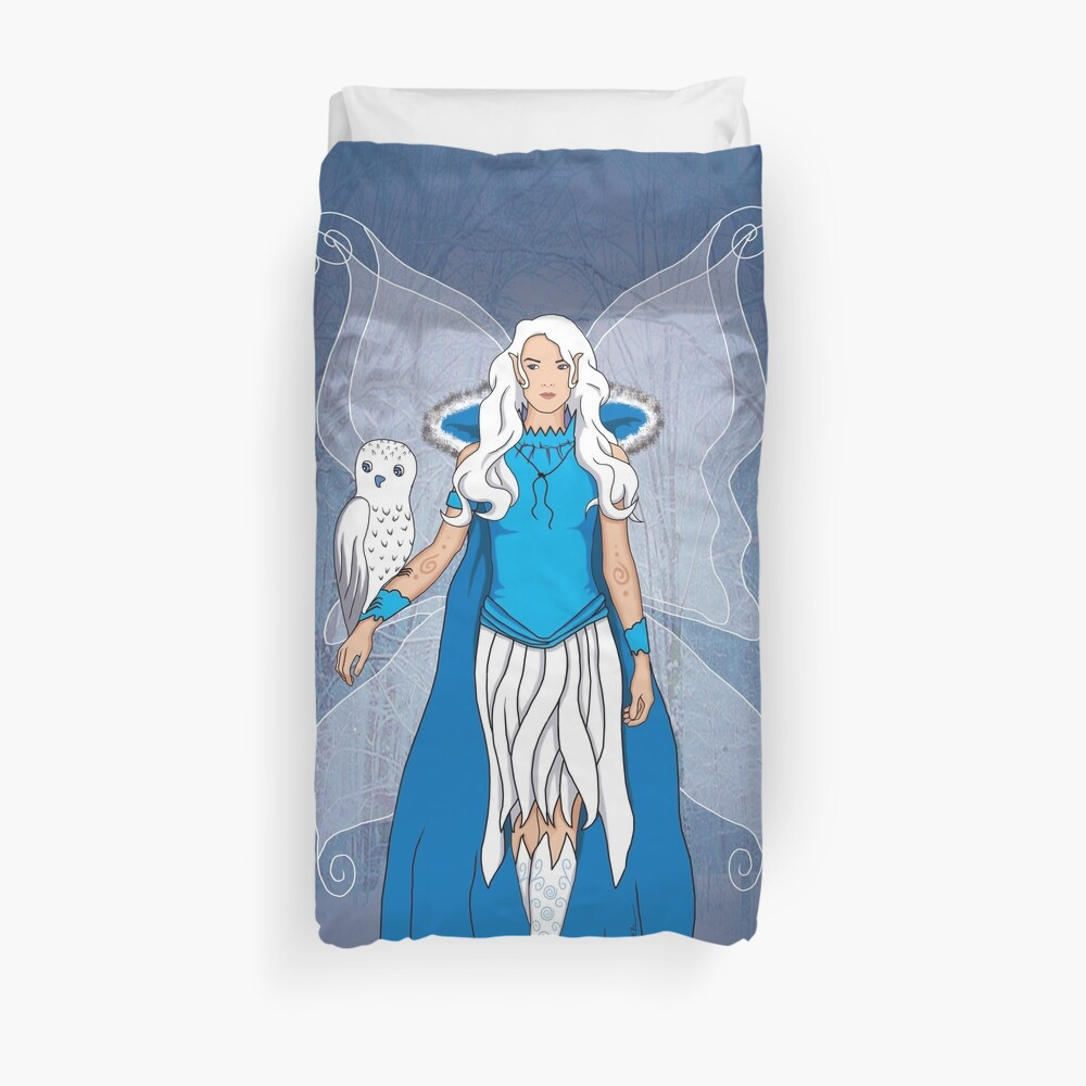 Fairy of the snows Duvet Cover