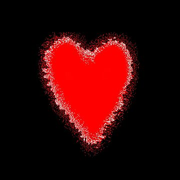 Red Heart black background  by ljm000