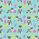 Schnauzer dog breed peeps marshmallow easter spring dog pattern gifts schnauzers by PetFriendly