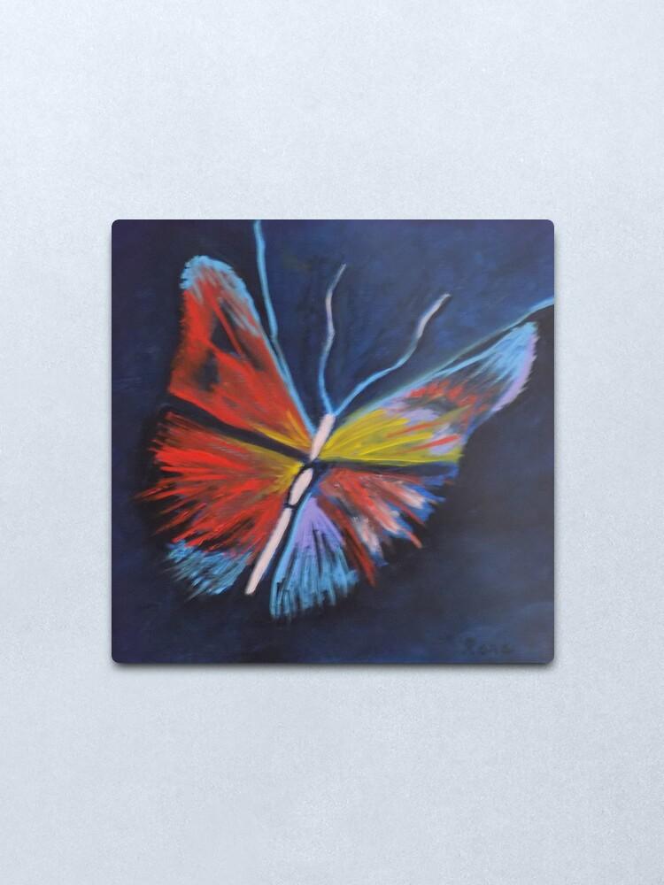 Alternate view of Neon Butterfly Metal Print