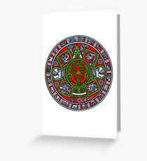 Ancient Mayan Calendar  Greeting Card