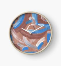 Falling Water Mid-Century Abstract Painting Clock