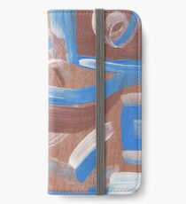 Falling Water Mid-Century Abstract Painting iPhone Wallet/Case/Skin