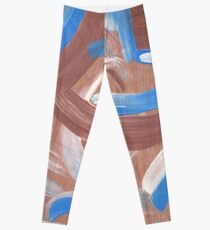 Falling Water Mid-Century Abstract Painting Leggings