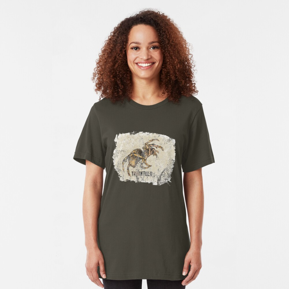 Tarantula Spider Lover Tarantula Pet Owner Vintage Arachnid Graphic Print Slim Fit T-Shirt