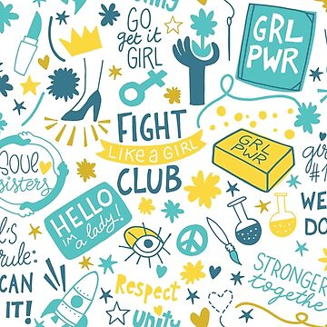 Fight like a girl sisterhood by NatGonzalez
