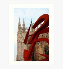 Futuristi a Milano Art Print