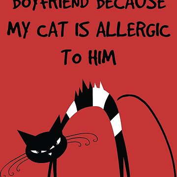 I broke up with my boyfriend because my cat is allergic to him by soulwhispherer