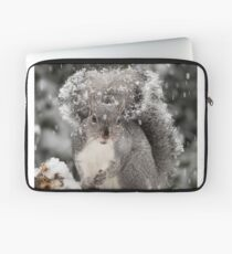 Snowy Day Gray Laptop Sleeve