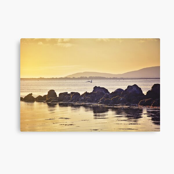 Sunset on Galway's bay Canvas Print