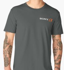 Sony Alpha (With Text, White) Men's Premium T-Shirt