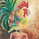 The Finger Painted Cockerel by AngelArtiste