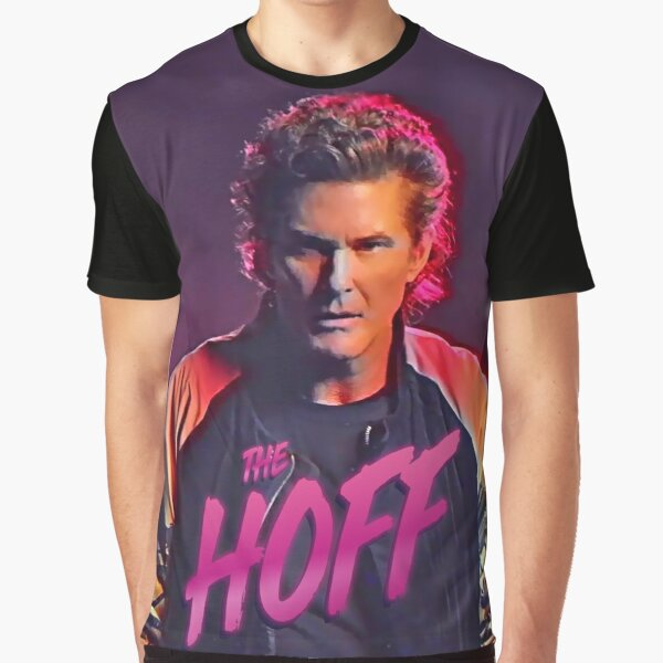 The Hoff - David Hasselhoff Retro Allover Patten Graphic T-Shirt