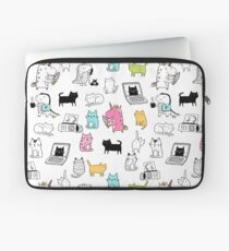 Cats. Dinosaurs. Unicorn. Sticker set. Laptop Sleeve