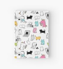 Cats. Dinosaurs. Unicorn. Sticker set. Hardcover Journal