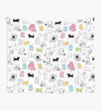 Cats. Dinosaurs. Unicorn. Sticker set. Wall Tapestry