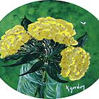 Yellow Carnations by WhiteDove Studio kj gordon