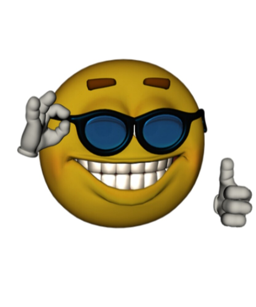 "smiley face sunglasses thumbs up emoji meme face"" by obviouslogic"