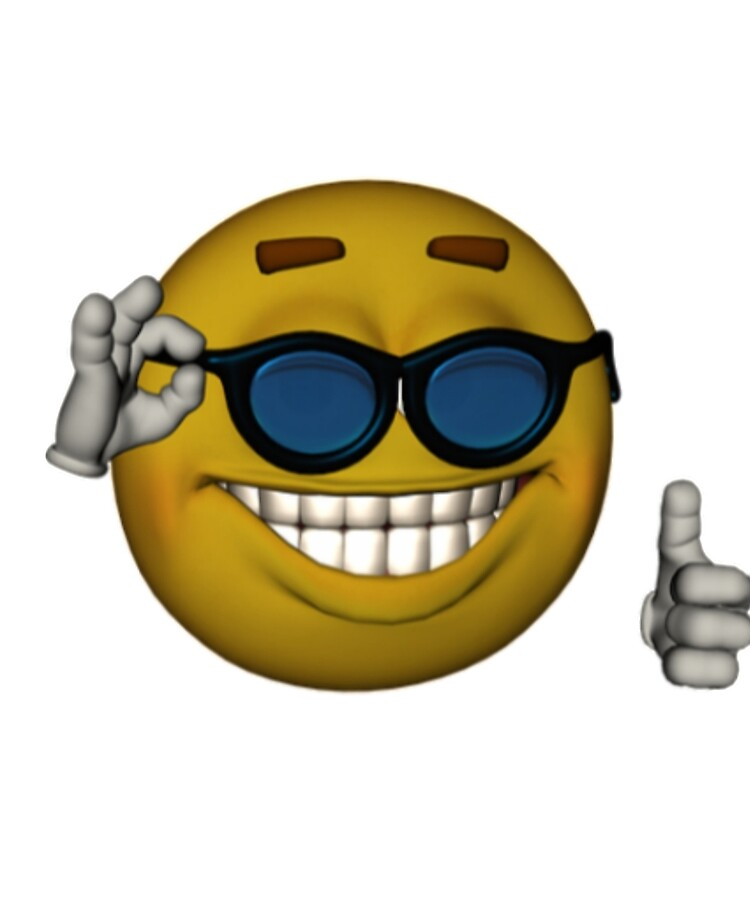 """Smiley Face Sunglasses Thumbs Up Emoji Meme Face"""" iPad Case & Skin by  obviouslogic 